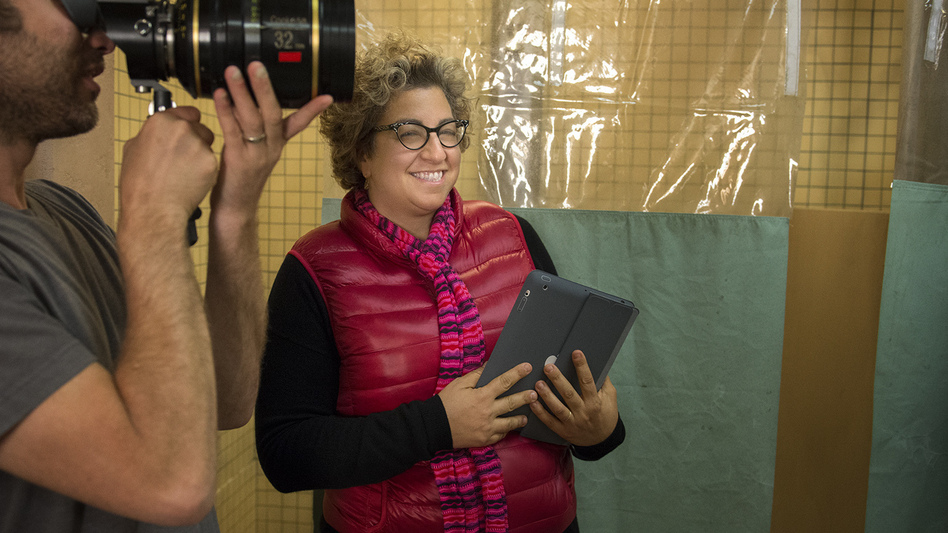 Jenji Kohan, seen here on the set of Orange Is the New Black, began her writing career on The Fresh Prince of Bel-Air. (Netflix)