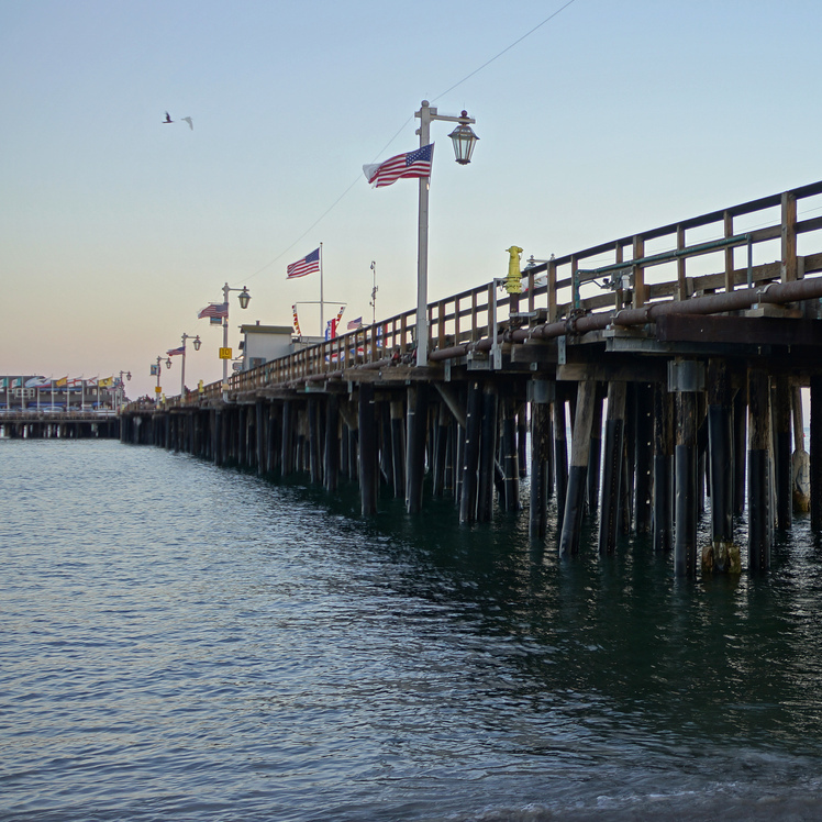 The pier at Stearns Wharf in Santa Barbara -- and in Grafton's fictional Santa Teresa -- hosts restaurants, fishermen and a psychic.