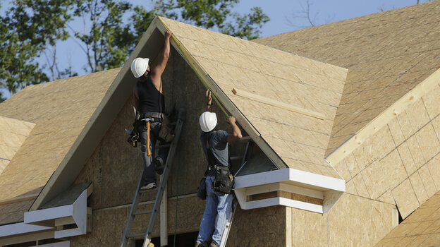Carpenters work on a housing site in Brandywine, Md., on May 31. Pent-up demand for homes could create jobs and help the struggling U.S. econ