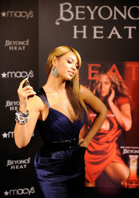 "Grammy winning recording artist Beyonce launches her new ""Heat"" on Feb. 3, 2010, in New York City."