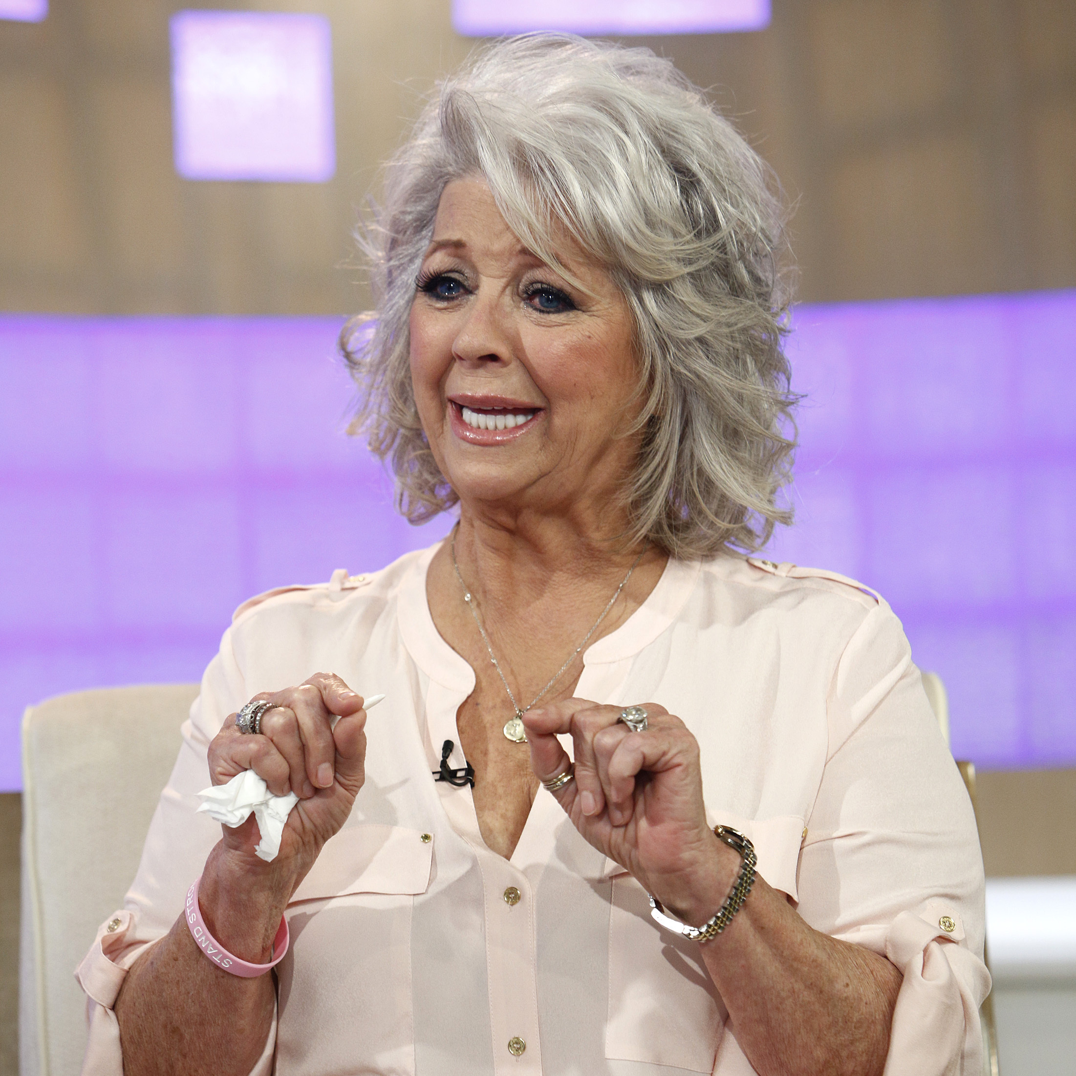 Celebrity chef Paula Deen appears on NBC News' Today show on June 26. During the interview, Deen cried when discussing her admission that she used a racial slur in the past.