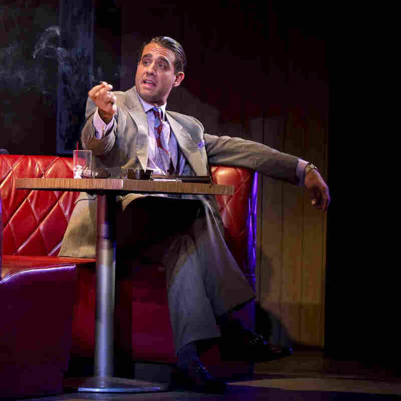 Bobby Cannavale (right) starred in Glengarry Glen Ross on Broadway. Cannavale has also starred in television shows such as HBO's Boardwalk Empire and in films such as The Station Agent.