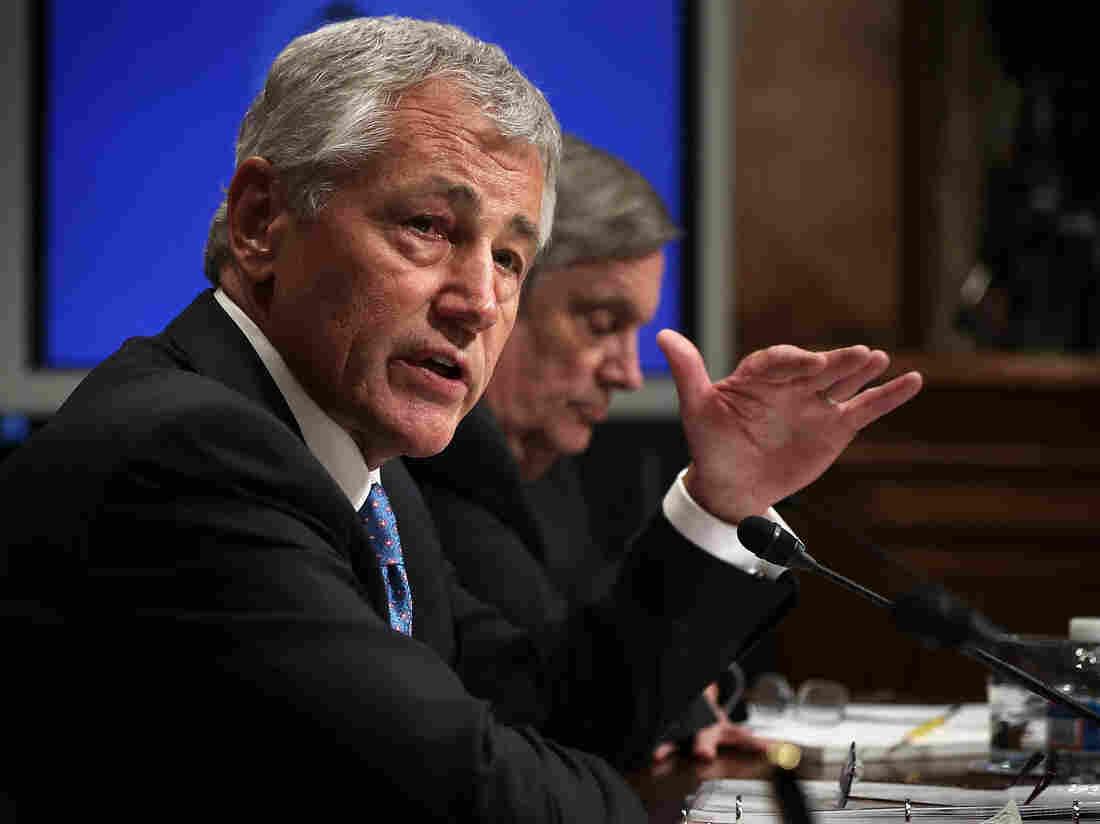 Secretary of Defense Chuck Hagel testifies during a hearing before the Senate Budget Committee in June.