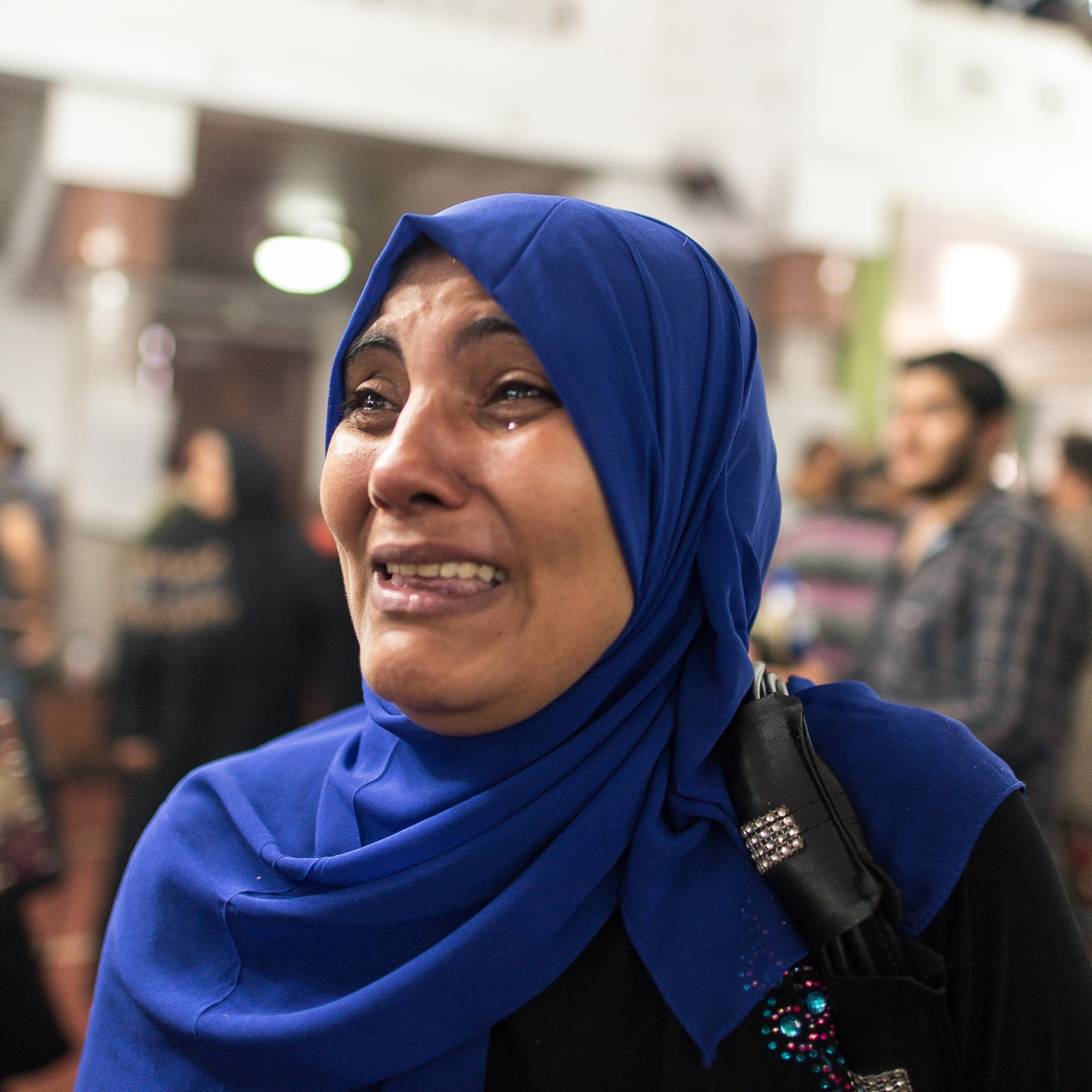 An Egyptian woman cries for her dead relative at a mosque in Cairo. According to the latest estimates, more than 500 people died and around 3,500 were wounded.