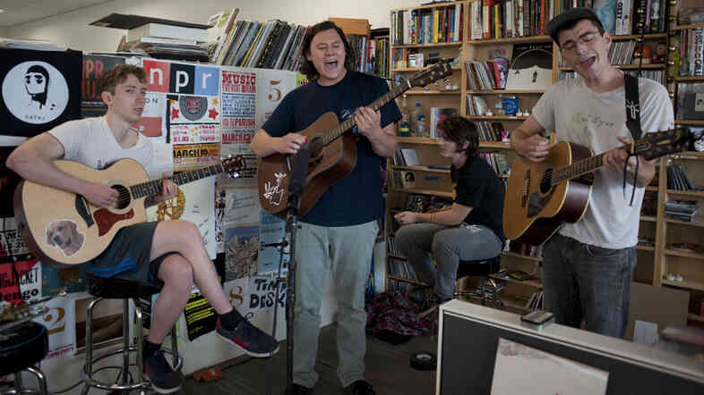 The Front Bottoms performs at a Tiny Desk Concert in July 2013.