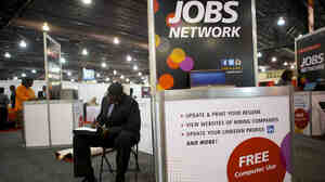 The scene at a career fair held by the National Urban League last month in Philadelphia.