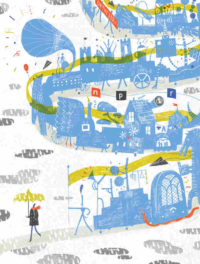 Baltimore-based artist Julianna Brion's illustration designed for the 2014 NPR Wall Calendar.