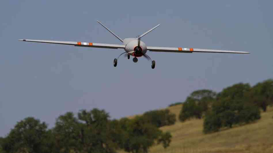 Tornado researchers want to use small drones, like this one called the Noctura, to study the storms.