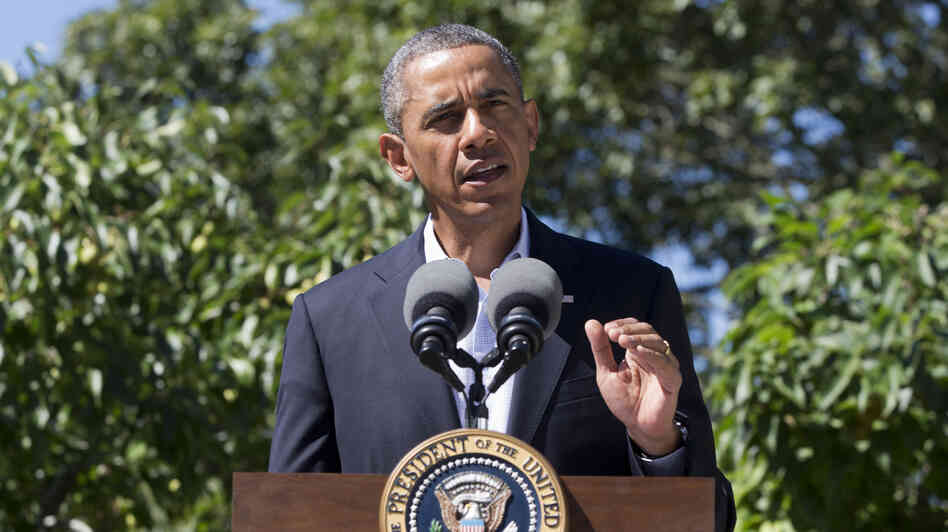 President Obama, speaking Thursday from the island of Martha's Vineyard, Mass., said the U.S. has canceled joint military exercises with Egypt.