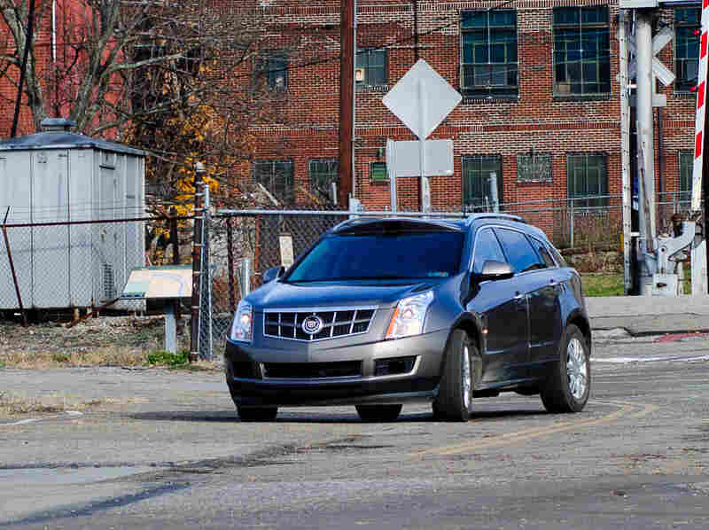 Carnegie Mellon's autonomous car, developed with General Motors, adds special equipment to a normal Cadillac SRX crossover.