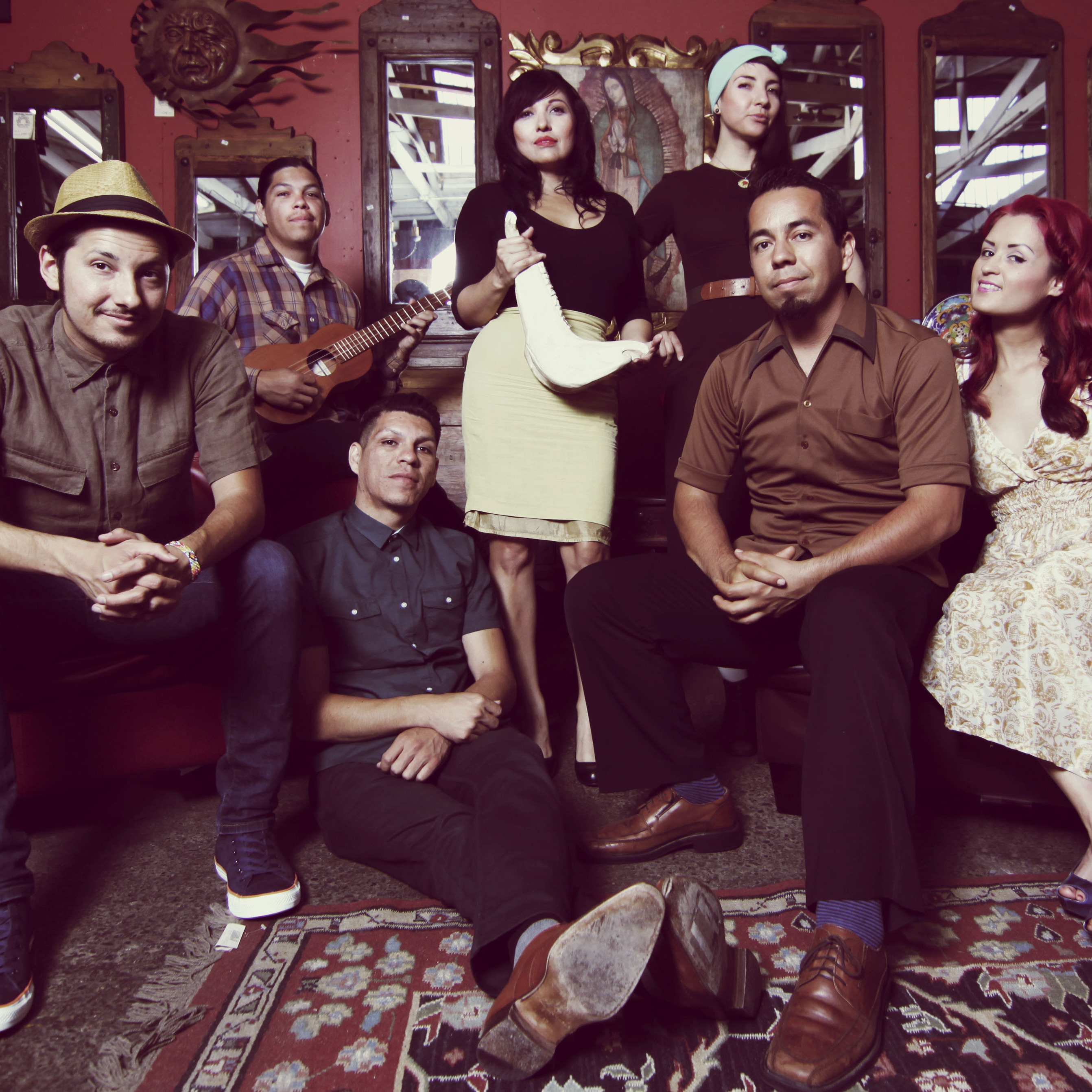 Las Cafeteras' members embrace Son Jarocho -- the traditional music of Veracruz, Mexico -- and use it to create political protest songs.