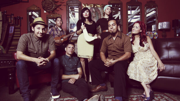 Las Cafeteras' members embrace Son Jarocho — the traditional music of Veracruz, Mexico — and use it to create political protest songs.