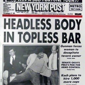 'N.Y. Post' Axes 'Headless Body In Topless Bar' Headline Writer