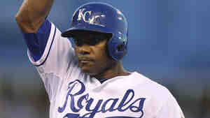 Royals infielder Miguel Tejada celebrates an RBI single against the Boston Red Sox last week at Kauffman Stadium in Kansas City, Mo.