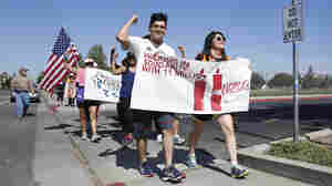Marchers kick off a 21-day march calling for immigration reform in Sacramento, Calif. on Monday. The 285-mile walk through California's Central Valley ended in Bakersfield at the district office of House Majority Whip Kevin McCarthy.