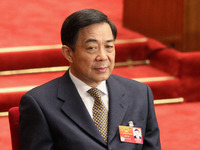 Bo Xilai at the opening of the National People's Congress at the Great Hall of the People in Beijing March 2012, six months before his expulsion.