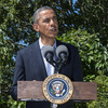 President Obama delivers a statement on Egypt at his vacation home on Martha's Vineyard on Thursday.