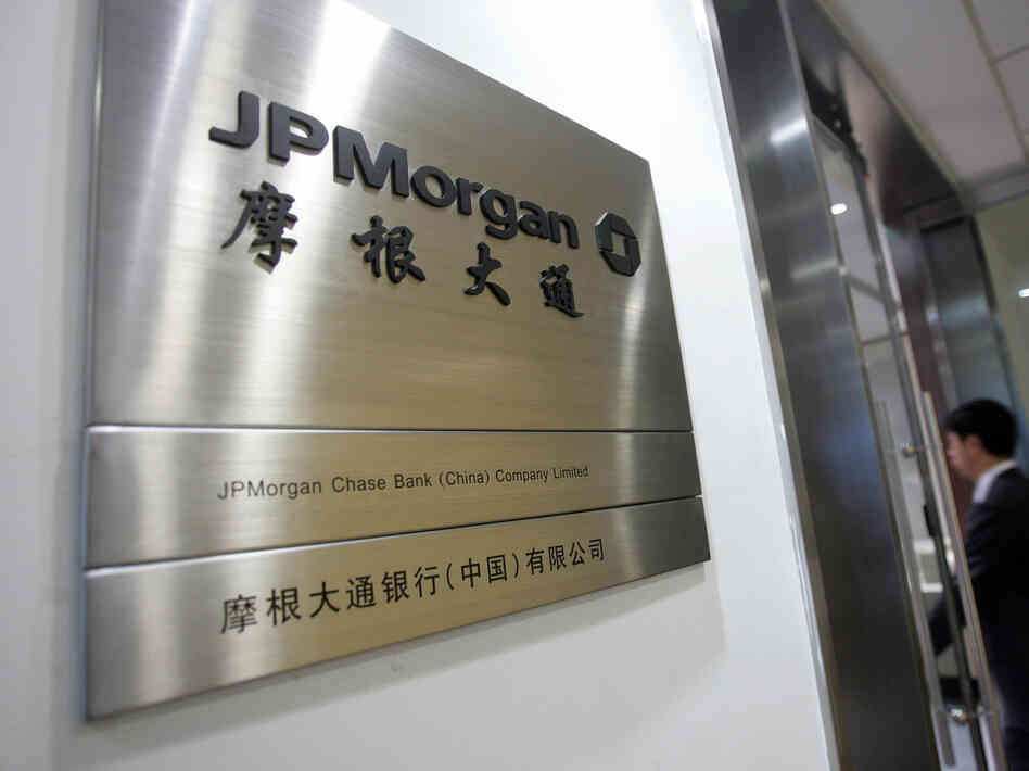 The office of the locally incorporated JPMorgan Chase Bank in Beijing.