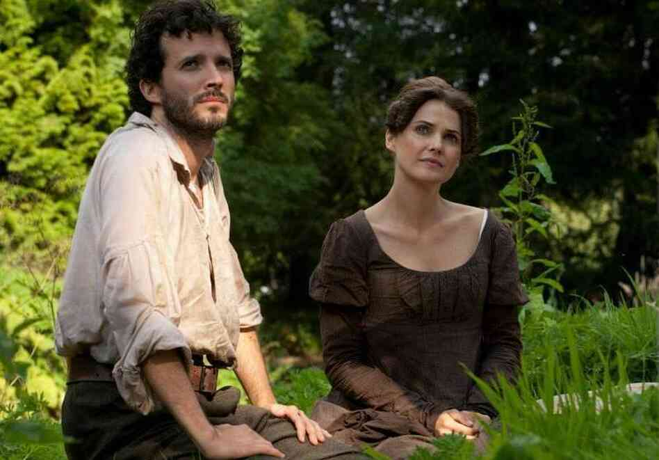 Keri Russell plays Austen fanatic Jane Hayes and Bret McKenzie plays a theme-park stable hand named Martin in Austenland.