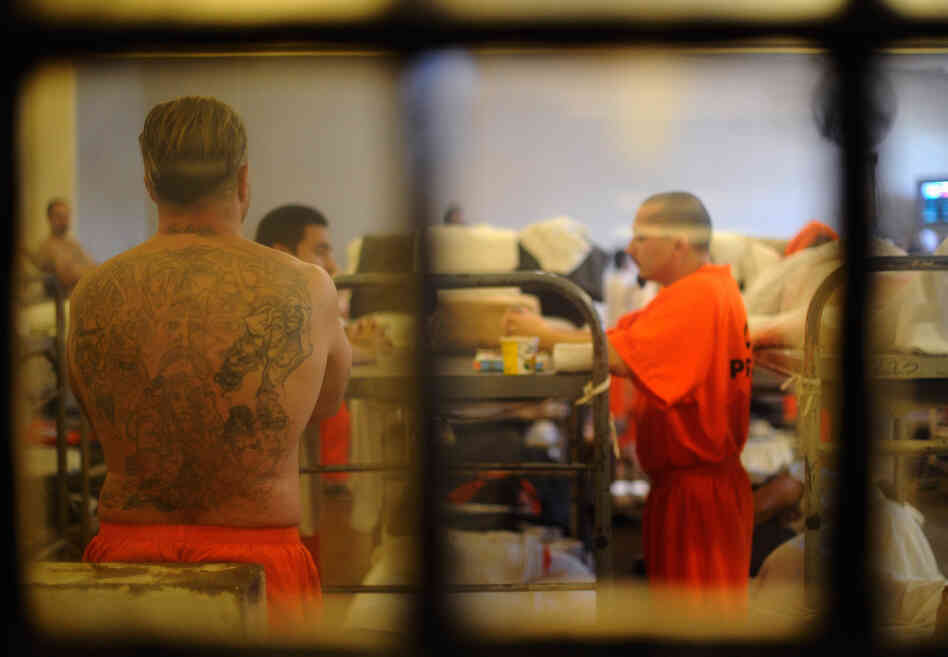Inmates at California's Chino State Prison in December 2010.