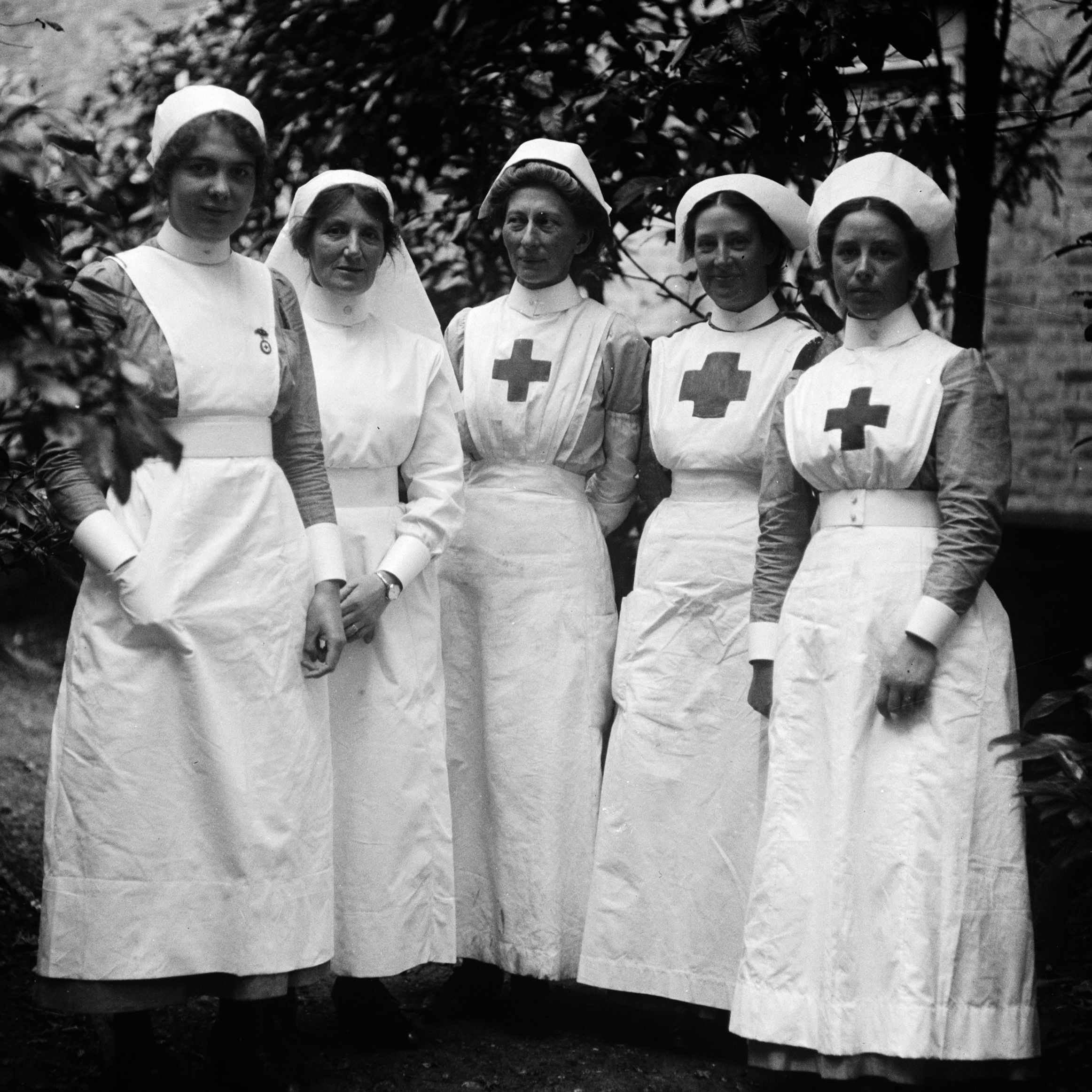 A group of nurses at a Red Cross Hospital during World War I.