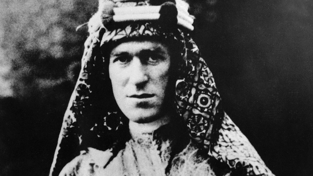 T.E. Lawrence, shown here on Oct. 3, 1928, wore Arab clothing in an effort to be seen as trustworthy. (AP)