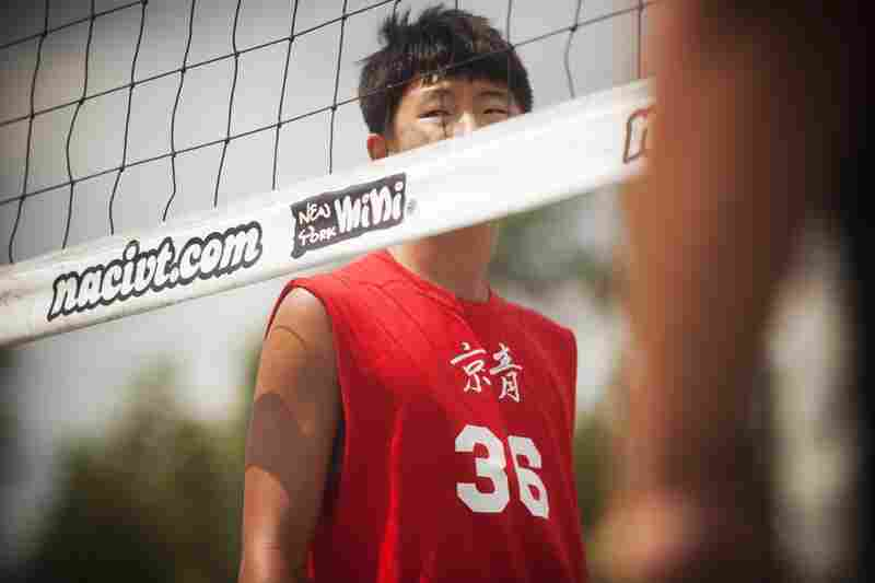 """Leo Yoon, 16, is playing 9-man volleyball with the Washington Chinese Youth Club (CYC) for the first time this year. """"I had some friends in the league that got me involved, and it's been a lot of fun,"""" Yoon says."""