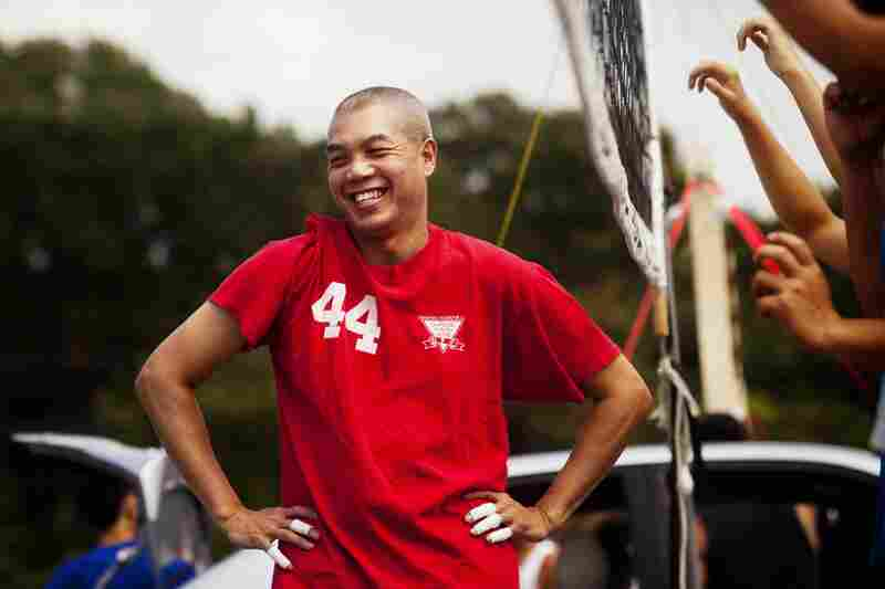 Larry Lim, 53, has been playing volleyball for 36 years.