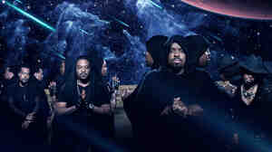 Goodie Mob is, from left to right, Khujo, T-Mo, Cee-Lo and Big Gipp.