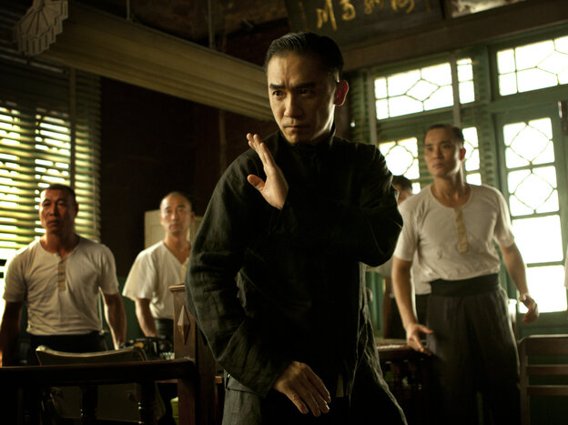 Tony Leung (center) fends off challengers as Wing Chun kung fu master Ip Man in Wong Kar Wai's The Grandmaster.