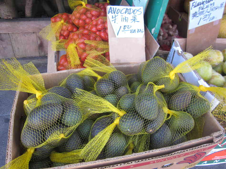We found lots of avocados being sold six or 10 to a $1 bag in the San Francisco area. Some weighed less than 3 ounces.