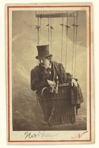 "Gaspard Felix Tournachon -- ""Nadar"" -- posed for a selfie in one of the balloons he used to spy for the French military."