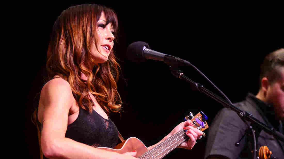 Amanda Shires performs with her husband, Jason Isbell, on Mountain Stage.