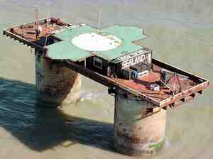 The self-proclaimed sovereign principality of Sealand, aboard a World War II artillery platform, began hosting the Internet haven HavenCo in 2000.