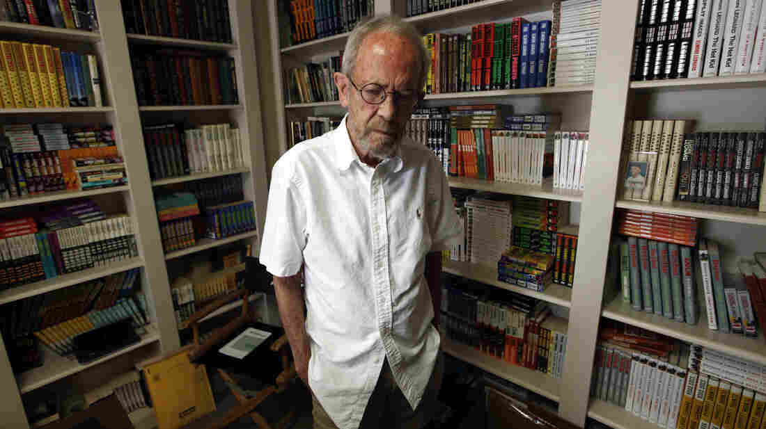 In his home library, Leonard kept copies of every book he'd ever written.