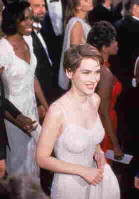 Ryder arrives on the red carpet of the Oscars in 1994, the year she was nominated as best supporting actress for The Age of Innocence.