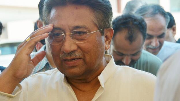 Former Pakistani President Pervez Musharraf in April, near his home in Islamabad. (Kyodo/Landov)