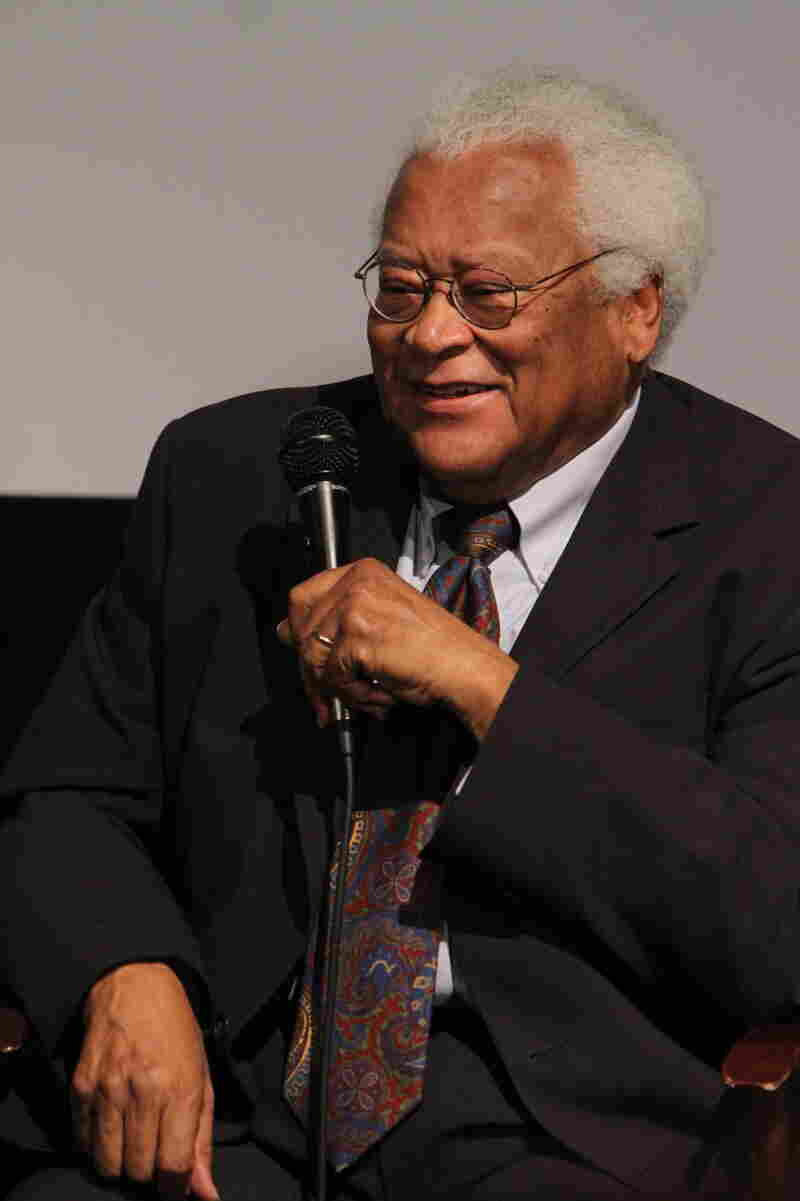 """The Rev. James Lawson speaks during a panel discussion, """"The Help — The Power Of Film To Create Social Change,"""" presented by the University of Southern California School Of Cinematic Arts in 2012."""