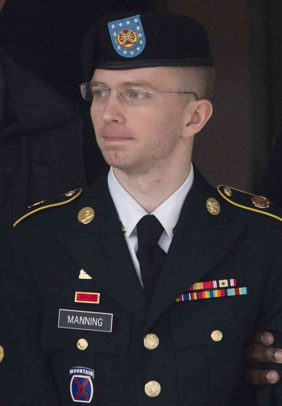 U.S. Army Pfc. Bradley Manning at Fort Meade, Md., on Tuesday.