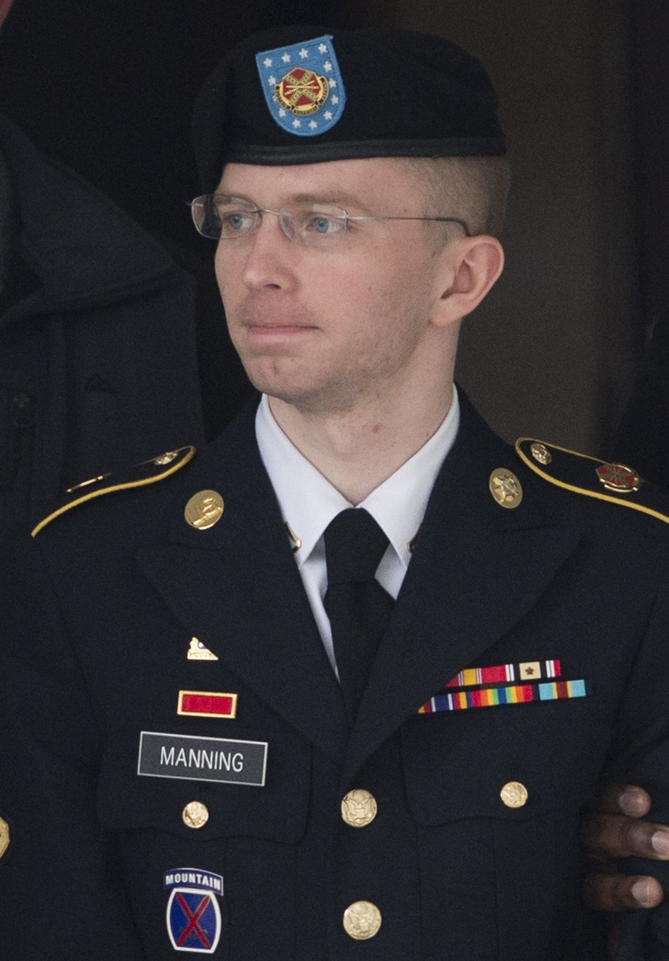 U.S. Army Pfc. Bradley Manning at Fort Meade, Md., on Tuesday. (Saul Loeb /AFP/Getty Images)