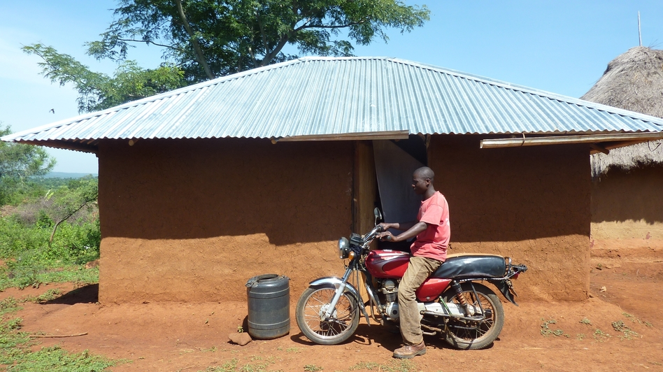 Bernard Omondi got $1,000 from GiveDirectly. (NPR)