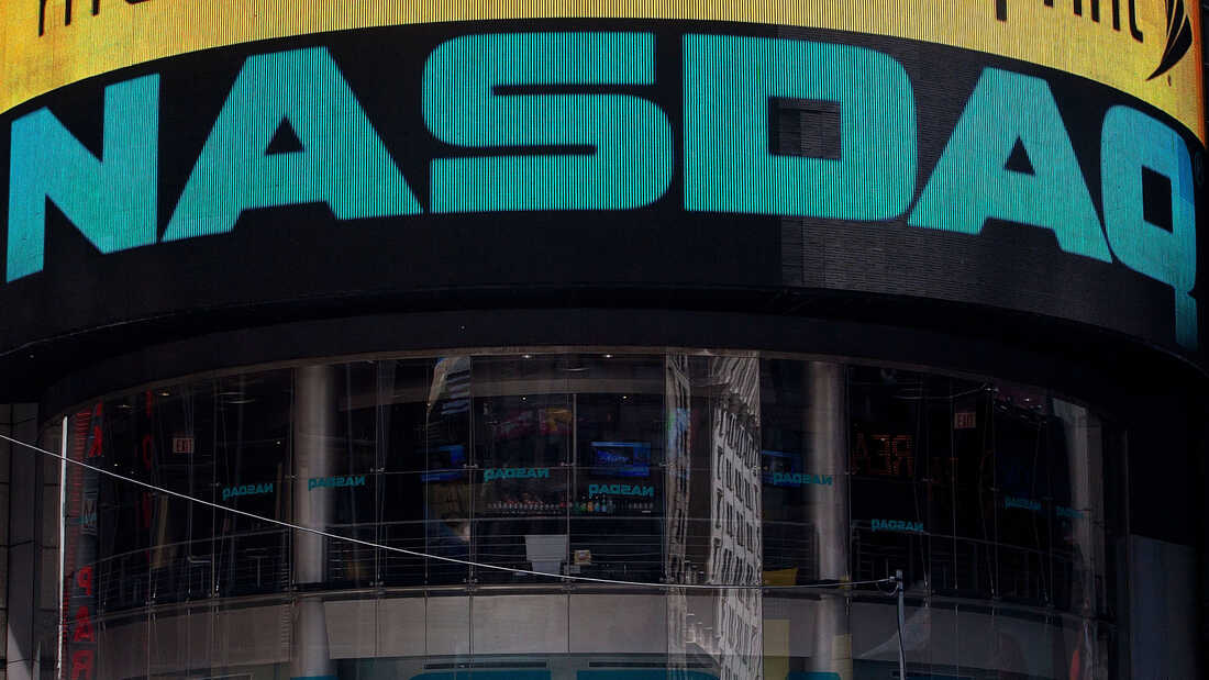 The Nasdaq exchange is seen in Time Square in New York City in this 2012 photograph.