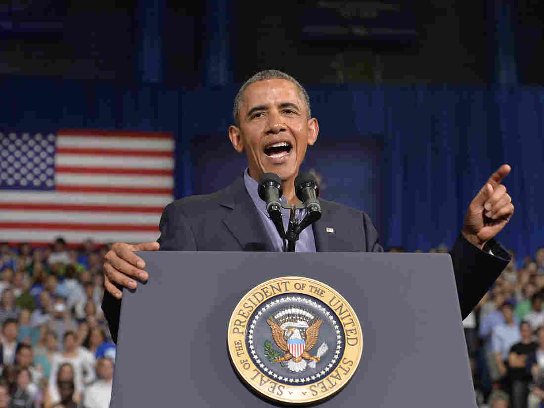 President Obama speaks on education at University at Buffalo, State University of New York, on Thursday.