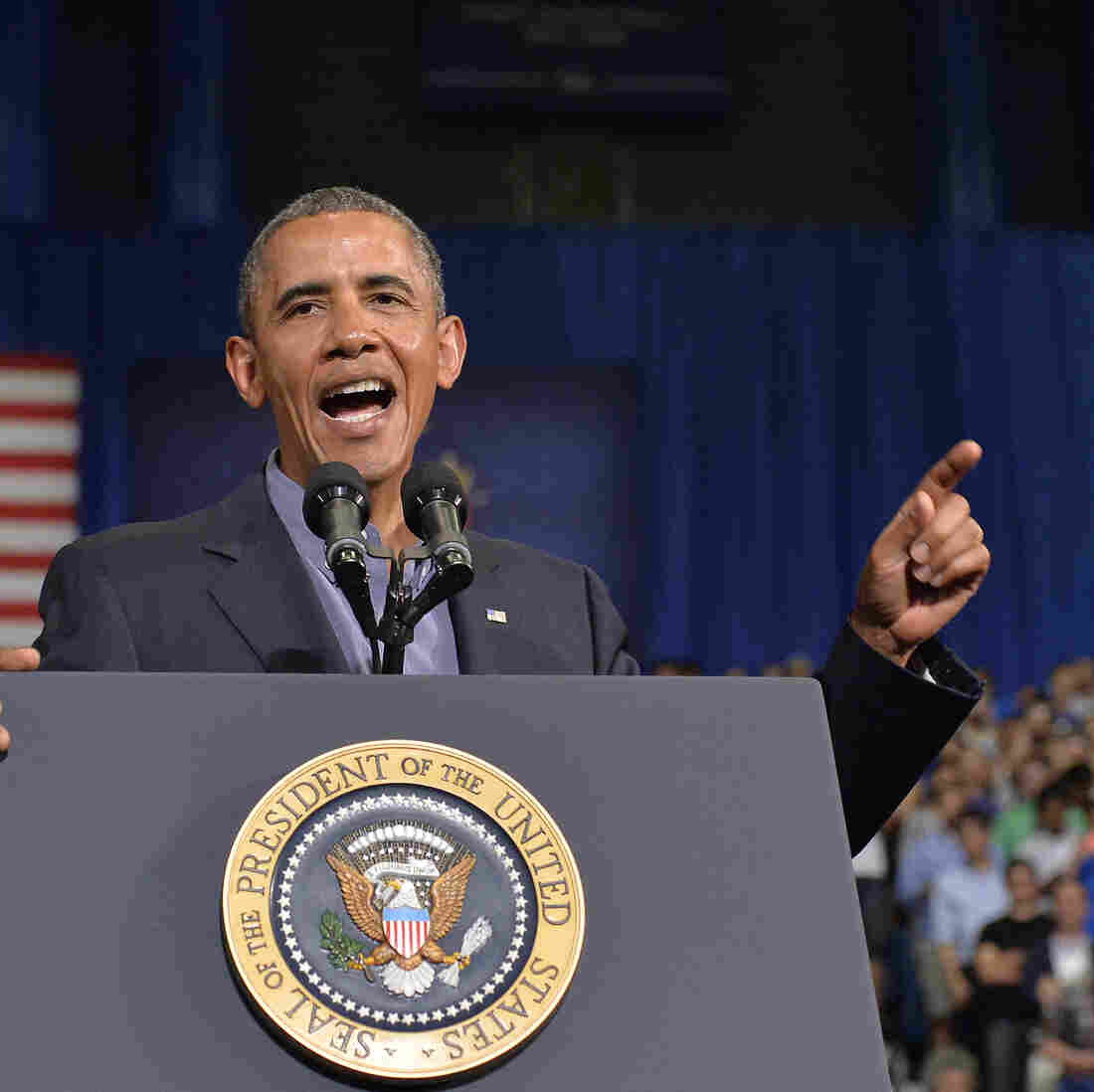 President Obama speaks on education at University at Buffalo, State University of New York, on Thursday.