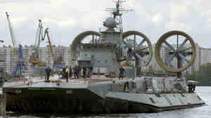 """Zubr-class air cushion landing craft """"Kerkyra"""" seen in St"""