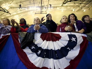 The audience listens as President Obama speaks at Scranton High School in Scranton, Pa., on Nov. 30, 2011.