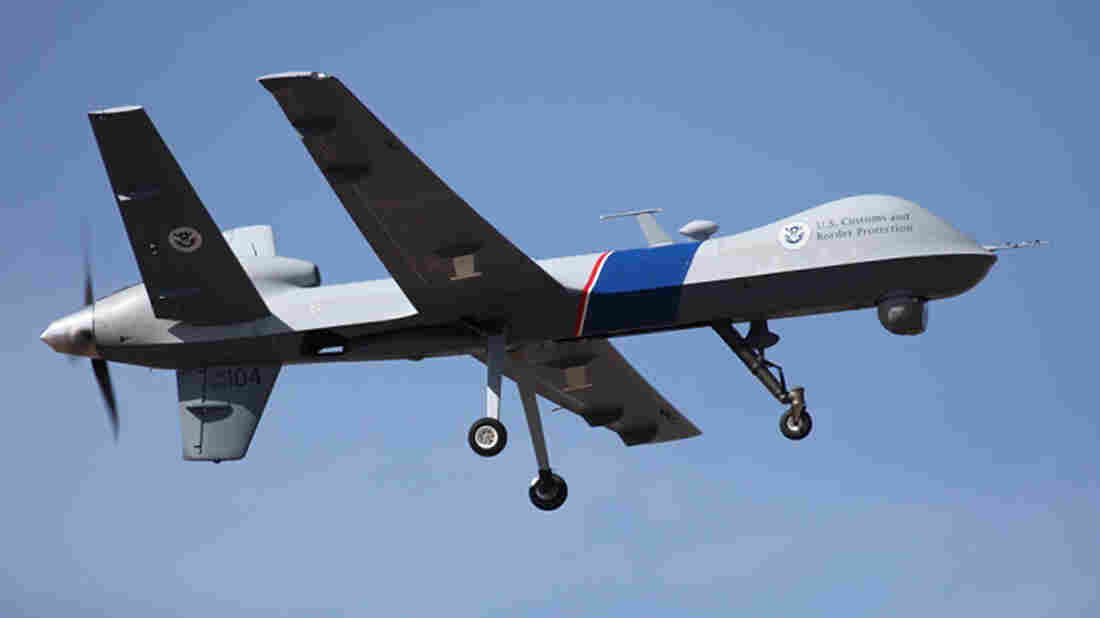 A federal drone that's used to patrol the U.S.-Canadian border.