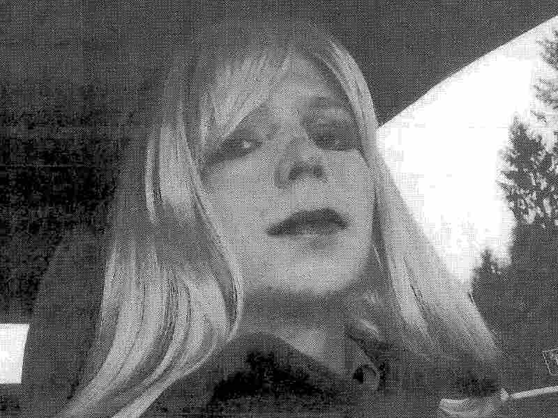Army Pfc. Bradley Manning, who now asks to be referred to as Chelsea, dressed as a woman in this 2010 photograph.