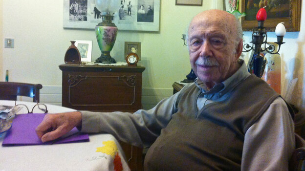 """Mois Yussuroum, a 94-year-old retired dentist, fought the Nazis as part of the Greek resistance during World War II. """"Of the 650 Greek Jews who fought in the resistance, I'm the only one still alive,"""" he says."""
