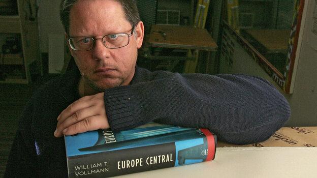 Author William T. Vollmann poses in his studio in Sacramento, Calif., in 2005.